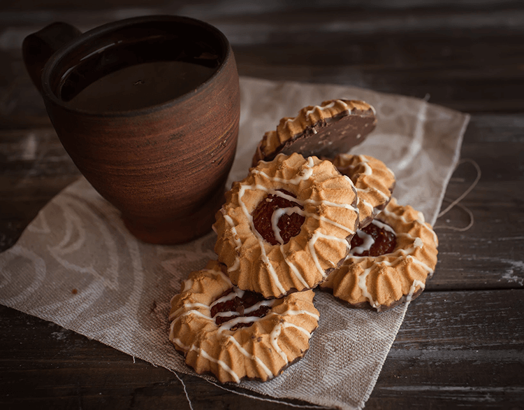 Try my favorite chocolate thumbprint cookie recipe with a hot cup of coffee.