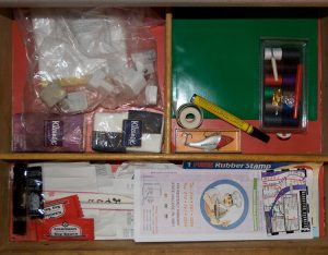 Clean out and organize your junk drawers that are driving you crazy.