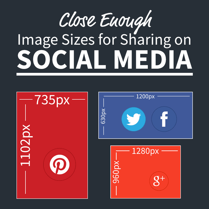 Use the right image size for the social media network you are sharing your content on.