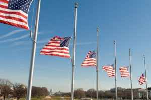 US Flags at Half Staff