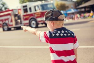 Child at Patriotic Parade