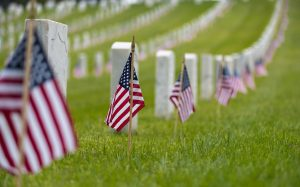 Memorial Day Flags at Cemetary