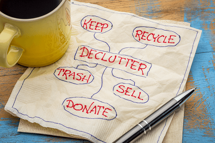 Downsizing your lifestyle can help clear out the clutter in your home and wallet.