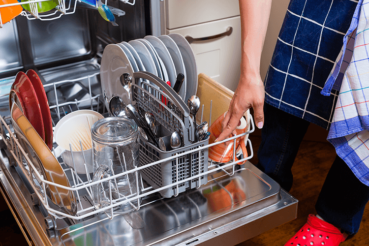 don't use the dishwasher unless it is completely full