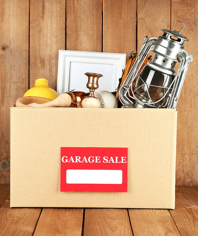 Have a garage sale to earn money and get rid of clutter.