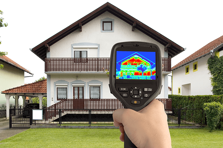 Check your house's heat signature for places to improve insulation