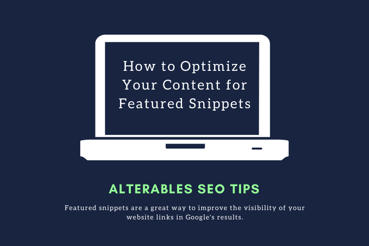 optimize for featured snippets